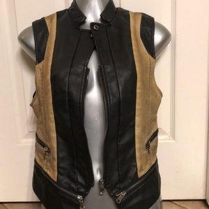 BKE buckle leather vest